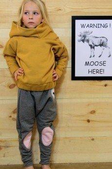 Loose Moose- fashion for Loose kids - spodnie Modern Moose grafit/róż