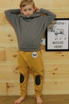 Loose Moose- fashion for Loose kids - spodnie Modern Moose musztrada/grafit