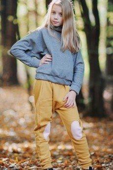 Loose Moose- fashion for Loose kids - spodnie Modern Moose musztarda/róż