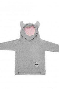 Loose Moose- fashion for Loose kids - bluza Chill Tail szary/róż