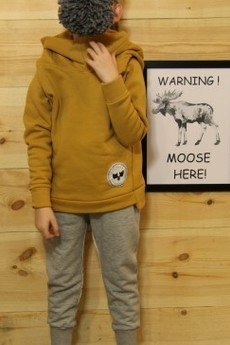 Loose Moose- fashion for Loose kids - bluza Chill Tail musztarda/grafit