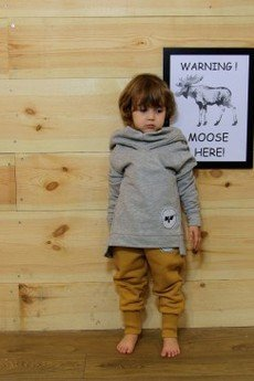 Loose Moose- fashion for Loose kids - bluza Chill Tail szary/grafit
