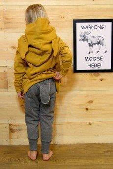 Loose Moose- fashion for Loose kids - bluza Chill Tail musztarda/róż