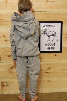 Loose Moose- fashion for Loose kids - bluza Modern Moose szary/róż