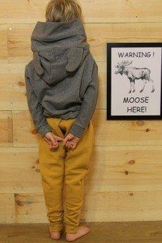 Loose Moose- fashion for Loose kids - bluza Modern Moose grafit/róż