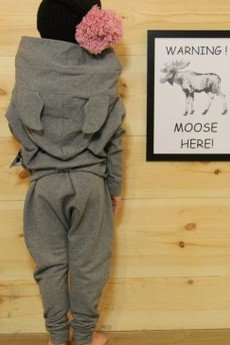 Loose Moose- fashion for Loose kids - bluza Modern Moose grafit/grafit