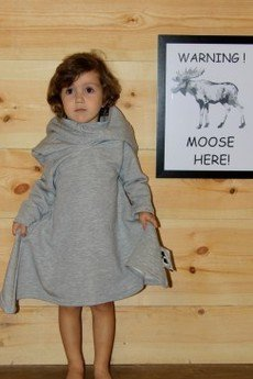 Loose Moose- fashion for Loose kids - sukienka Little On The Street szary/róż