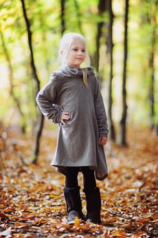 Loose Moose- fashion for Loose kids - sukienka Little On The Street grafit/grafit
