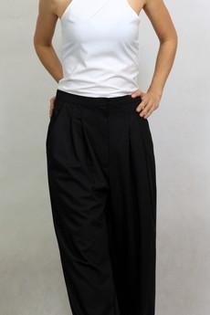 NowMe - Szerokie spodnie z wełny
