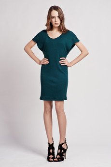 - Dress with loose sleeves - green - SUK 101