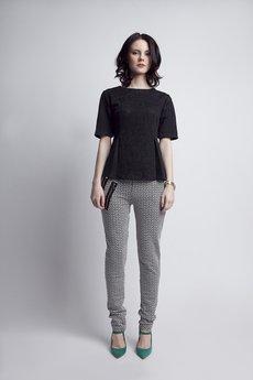 Lanti - Elegancka koronkowa bluzka BLU 120 czarna