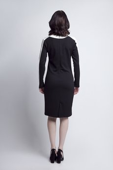 Lanti - Sukienka z lampasem SUK 115