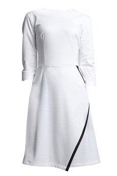 - Sukienka z kopertowym dołem SUK 116