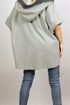 NowMe - Długa bluza z kapturem