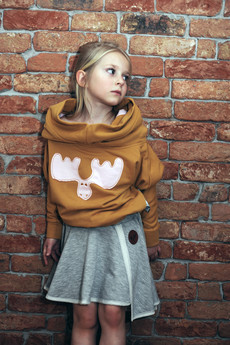 Loose Moose- fashion for Loose kids - bluza Modern Moose musztarda/róż łoś