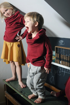 Loose Moose- fashion for Loose kids - bluza Gray For A Day bordowa