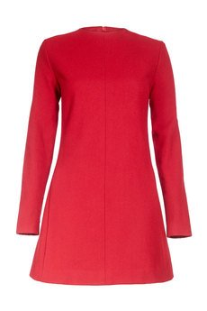 - Sukienka z czerwonej wełny