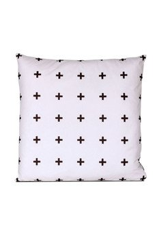 MIA home passion - Poduszka Cross multi white