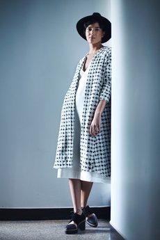 - LOUS/CHALLENGE/sweter długi PROVE pepitka