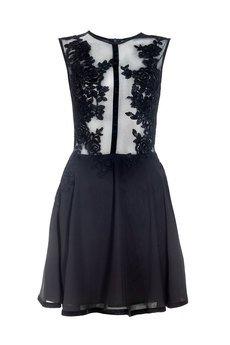 - Sukienka z koronki i szyfonu