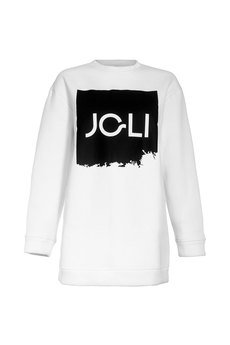 JO-LI - Biała bluza z logo JO-LI