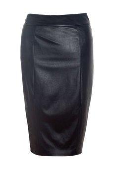 JO-LI - Spódnica ołówkowa z imitacji skóry