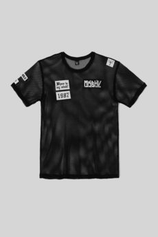 - MESH T-SHIRT BLACK