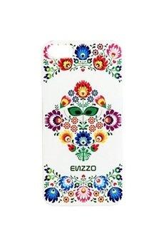 ENZZO - Etui do iPhone6 Folk+folia+chusta z mikrofibry