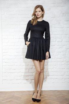 JO-LI - Sukienka z czarnej wełny