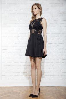 JO-LI - Sukienka z koronki i szyfonu