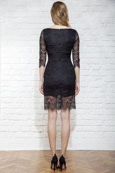 JO-LI - Sukienka z czarnej koronki z głębokim dekoltem