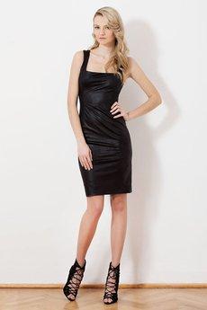 JO-LI - Sukienka z dzianiny imitującej skórę