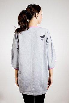 Frifru - Sukienka z różowymi lamówkami