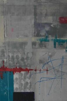 """Strefa koloru - Kasia Puchowska - Obraz na płótnie - """"Chemia"""", 100x100cm."""