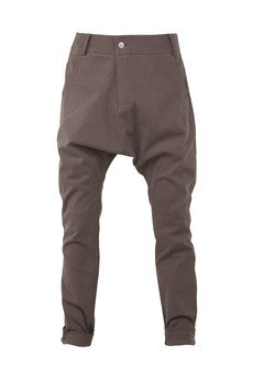 MADOX design - spodnie niski krok ciemny brąz
