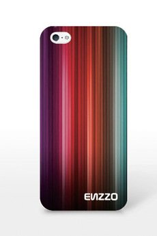 ENZZO - Etui do iPhone5/5s Rainbow+folia+chusta z mikrofibry