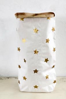 MIA home passion - Torba papierowa Stars gold