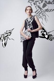 Luiza Kimak - Spodnie z lejącej tkaniny qupro