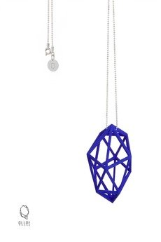 QLLOE - Naszyjnik 3D #1 kobalt