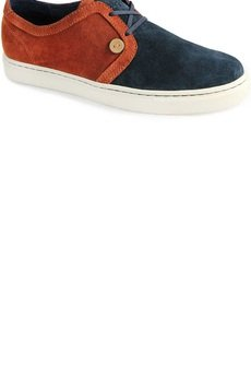 FAGUO - Holly Suede, Navy/Cognac