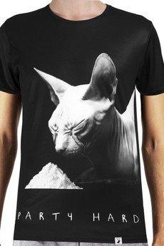 - 'Party hard' termoaktywny T-shirt męski z filtrem UV