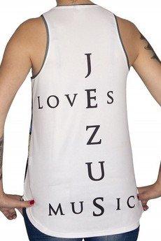 GAGABOO - 'Jezus loves music' termoaktywna koszulka damska