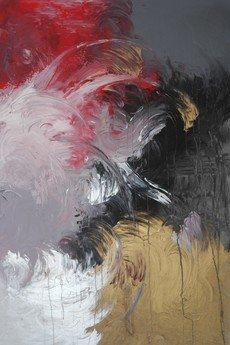"""- Obraz abstrakcyjny """"Amok"""", 120x80 cm."""