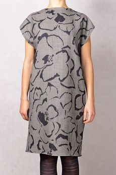 - floral sukienka printed wełniana