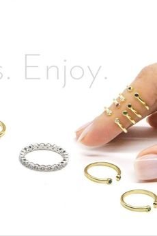 """- Knuckle ring """"dwa oczka"""" złocony"""