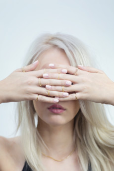 """Selfie Jewellery - Knuckle ring """"obrączka"""" złocony"""