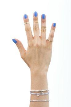 """- Knuckle ring """"połówka"""" złocony"""