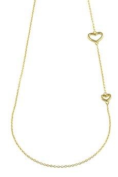 Selfie Jewellery - Naszyjnik z serduszkami złocony