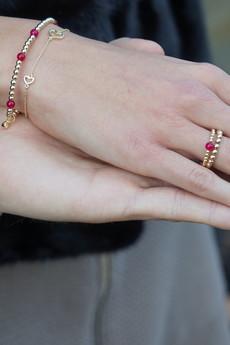 Selfie Jewellery - Bransoletka z agatem różanym