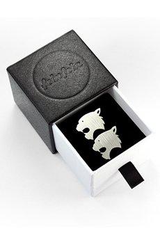 FEINFEIN - Personalizowane srebrne spinki do mankietów NIETOPERZ